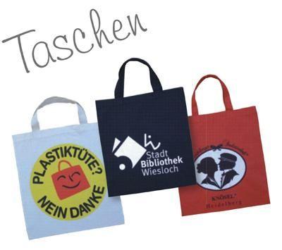 Tragetaschen Mit unseren Taschen lassen sich eine Vielzahl Werbekontakte herstellen. Pack's ein und trag's weg!