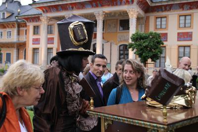 Monieur Chocolat bei der Pillnitzer Schlossnacht Pillnitzer Schlossnacht