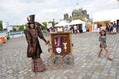 Monsieur Chocolat auf dem Gauklerfest Berlin Gauklerfest Berlin