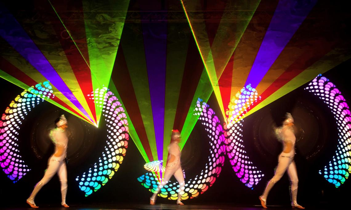 PRiSMATIC Licht- und Lasershow - Show-Act für Gala-Veranstaltungen, Firmenfeiern und Produktpräsentationen.
