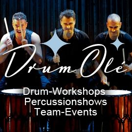 DRUM OLÉ - Drum-Workshop der Extraklasse Teambuilding und Showkonzepte