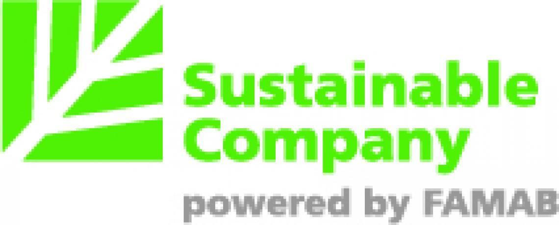 Sustainable Company powered by FAMAB. Mit dem Erhalt der Auszeichnus Sustainable Company beweist Spartakus seit 2013, dass das Unternehmen die Standards für nachhaltiges Wirtschaften erfüllt und seiner ökologischen, ökonomischen und sozialen Verantwortung nachkommt.