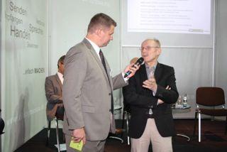 Harry Flint im Interview mit UN Sonderbotschafter Willi Lemke Harry Flint im Interview mit UN Sonderbotschafter Willi Lemke