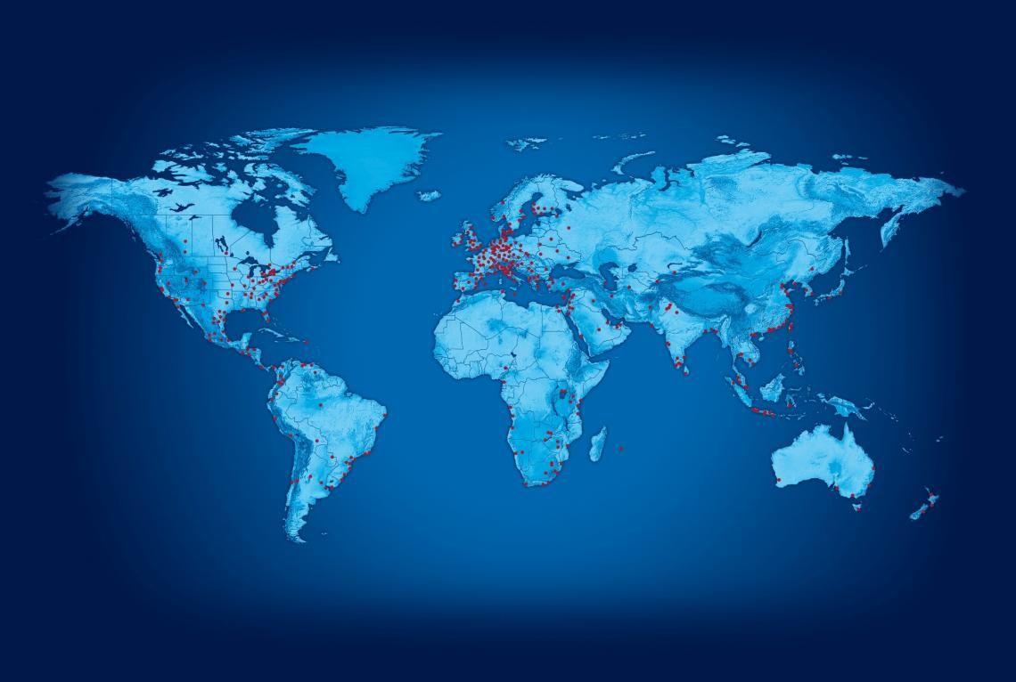 Global Player: KN stellt Ihnen einen zentralen Ansprechpartner und ein weltweites Netzwerk mit mehr als 1.000 Standorten in über 100 Ländern. Dazu zählt auch ein integriertes Service-Portfolio mit ca. 65.000 Mitarbeiter in weltweit 7 Regionen.