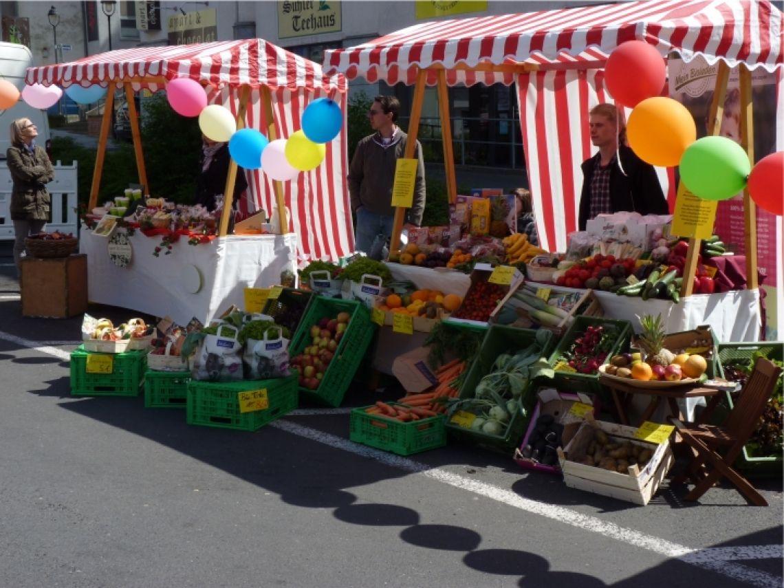 Marktstände vielseitig einsetzbar