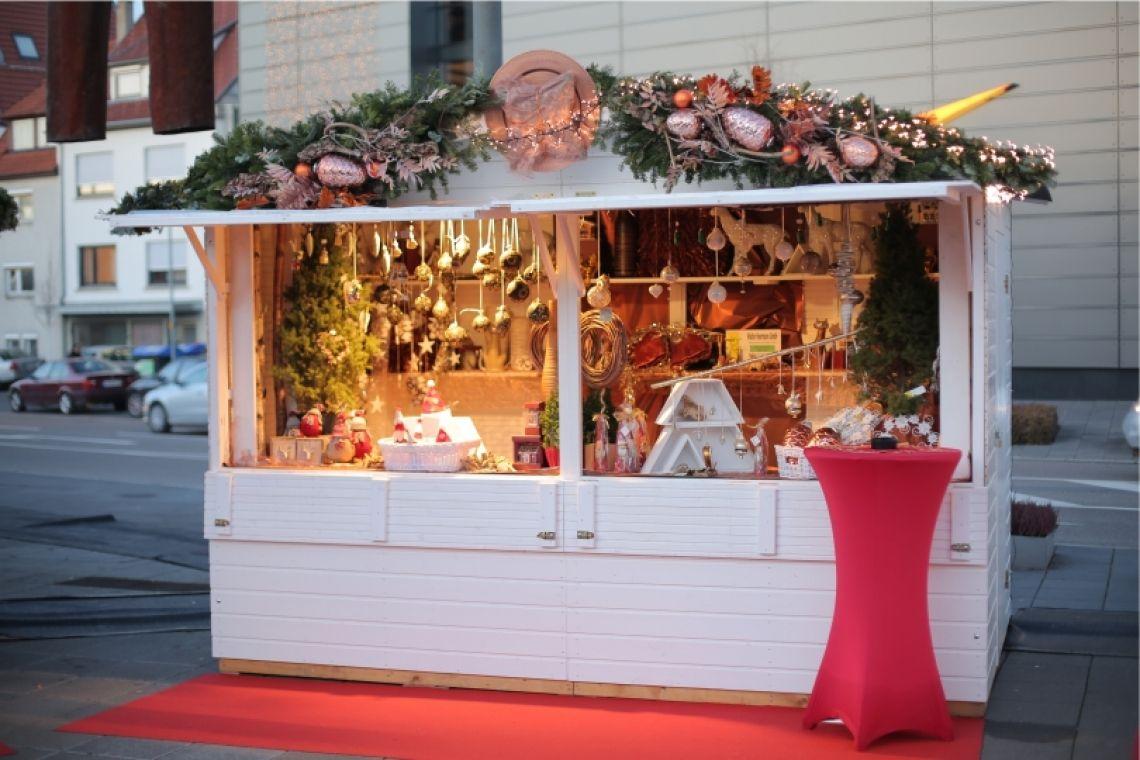 Verkaufsstand mit Weihnachsmarktdeko Markthütten - z.B. für Weihnachtsmärkte, Straßenfeste, Catering , Hoffest usw.