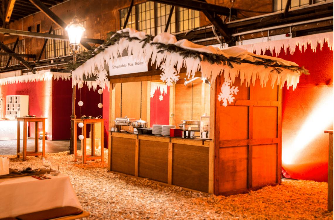 Weihnachtshütte, Catering
