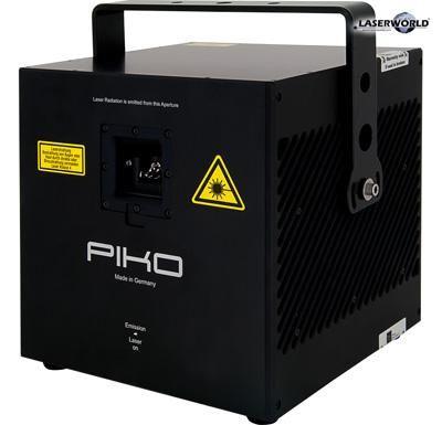 RTI Piko - Das kompakte Kraftpaket Der RTI PIKO ist ein äußerst kompaktes Lasersystem in einem IP54-abgedichteten Gehäuse, erhältlich mit einer unglaublichen Leistung von 17 Watt (garantierte Leistung) - Full Color RGB! Für die Single-Color-Systeme bietet Laserworld den OPSL-Konfigurator, mit dem OPSL-Laserquellen zu einem kompletten Showlaser-Projektor kombiniert werden können. Die PIKOs sind geeignet für jede Art von Laseranwendung - ob Festinstallation, mobiler Gebrauch, Multimedia-Projekte, Outdoor Lasershows über grosse Distanzen, präzise Grafik-Projektionen, etc. Die PIKO Geräte können durch das vielseitige und abnehmbare Remote Control Pad einfach konfiguriert werden: Die Grundeinstellungen des gesamten Systems können komplett angepasst werden.  Natürlich können sogar unsere kleinsten Geräte per LAN, DMX, ILDA, SD-Card oder Automodus angesteuert werden. Sogar W-DMX ist auf Anfrage erhältlich.