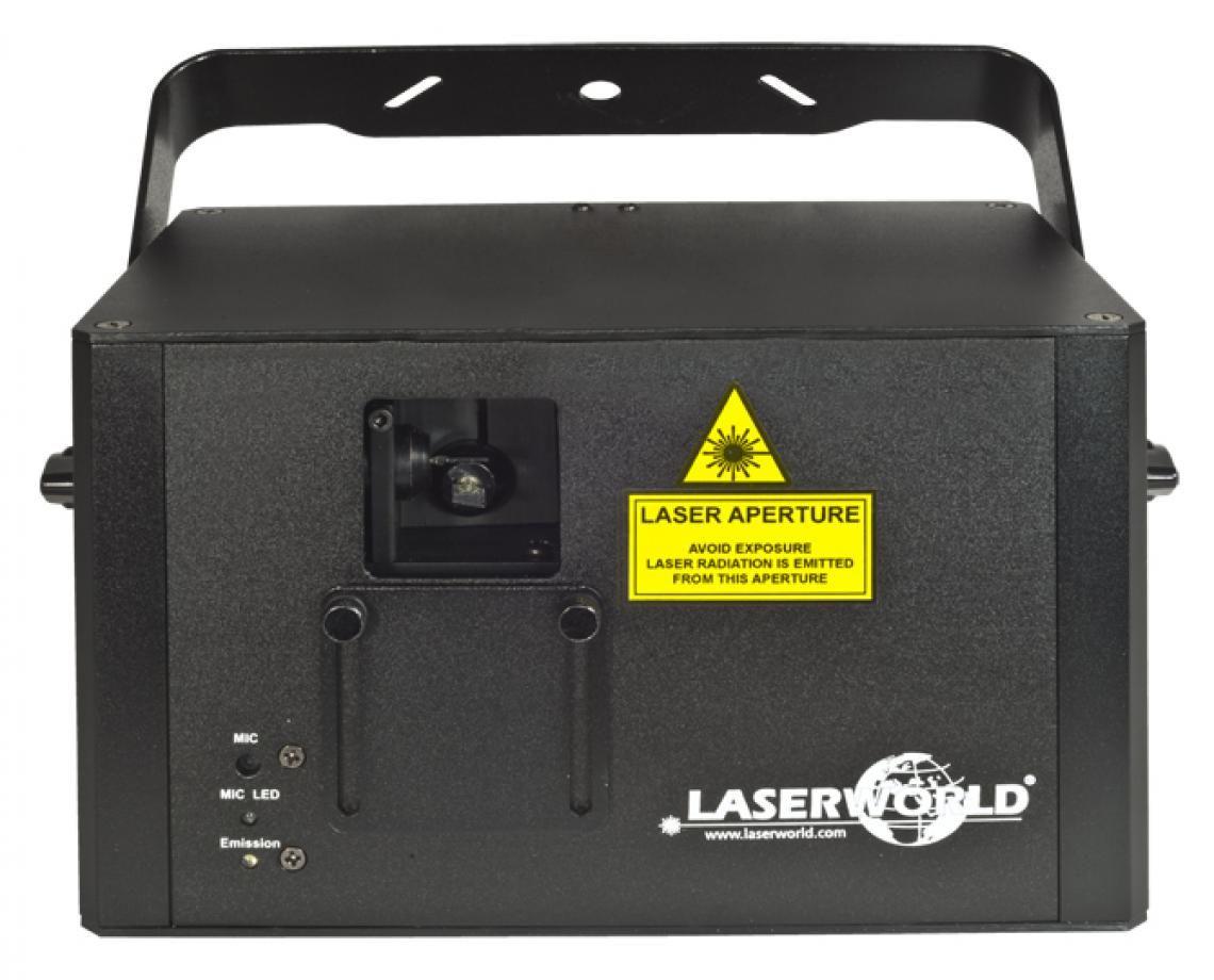 Laserworld CS-1000RGB – Das populäre Multitalent Die Systeme der Laserworld Club Serie gehören zu den beliebtesten in der Produktpalette von Laserworld. Alle Geräte lassen sich über DMX und ILDA ansteuern und besitzen darüber hinaus einen Auto- und Musikmodus. Dadurch ergeben sich sehr variable Einsatzmöglichkeiten und die Geräte können selbst von Laien leicht bedient werden.  Der CS-1000RGB bietet eine Gesamtleistung von 1'000 mW und kommt in einem neu konzipierten kompakteren Gehäuse. Die CS-RGB-Systeme sind voll grafikfähig. Ideale Einsatzbereiche sind mittelgroße Clubs, Bars, Parties, etc.