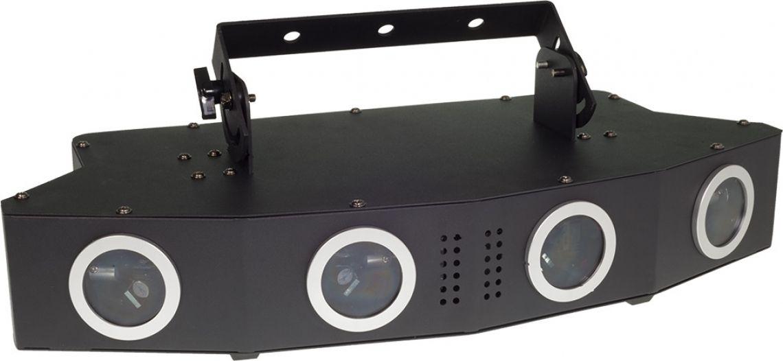 Laserworld EL-900RGB Der Laserworld EL-900RGB ist ein komplettes Lasershow System in einem Gerät. Es wurde speziell für die Bedürfnisse von DJs und kleineren Clubs entwickelt, die gezielt nach einem einzelnen Lasersystem gefragt haben, das den gesamten Raum bespielen kann - ohne den Nachteil von engen Abstrahlwinkeln der Ablenkeinheiten.