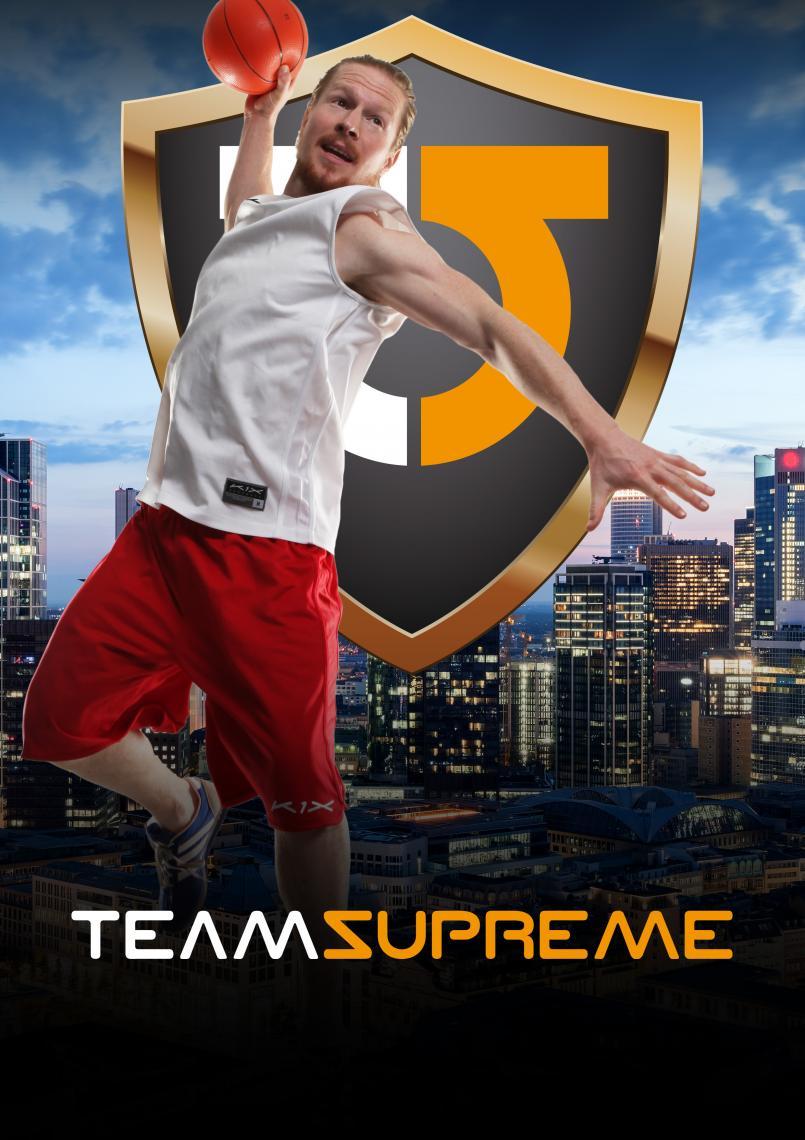 Team Supreme's  -Acrodunk - Basketballshow- Shooting hoops & Slamming dunks.  In der brandneuen Show der Berliner Akrobatik, Tanz & Stunt Crew -Team Supreme- dreht sich alles um das Thema Basketball.  Waghalsige Sprünge, spektakuläre Dunks und faszinierende Kombinationen, lassen die Show zu einem großartigen Sportspektakel werden.  Ausgerüstet mit transportabler Korbanlage, Matten und Trampolin lässt sich die Show nicht nur in Sporthallen sondern auch in anderen Eventlocations mit genügend Platz und Deckenhöhe, sowie bei outdoor Veranstaltungen einfach platzieren.  Wie auch in den anderen Shows der Bewegungsspezialisten  lassen die sportbegeisterten Akteure auch Ihre Hauptdisziplinen Breakdance, Akrobatik und Stunt in die Basketballshow einfließen und präsentieren eine abwechslungsreiche und sensationelle Performance.