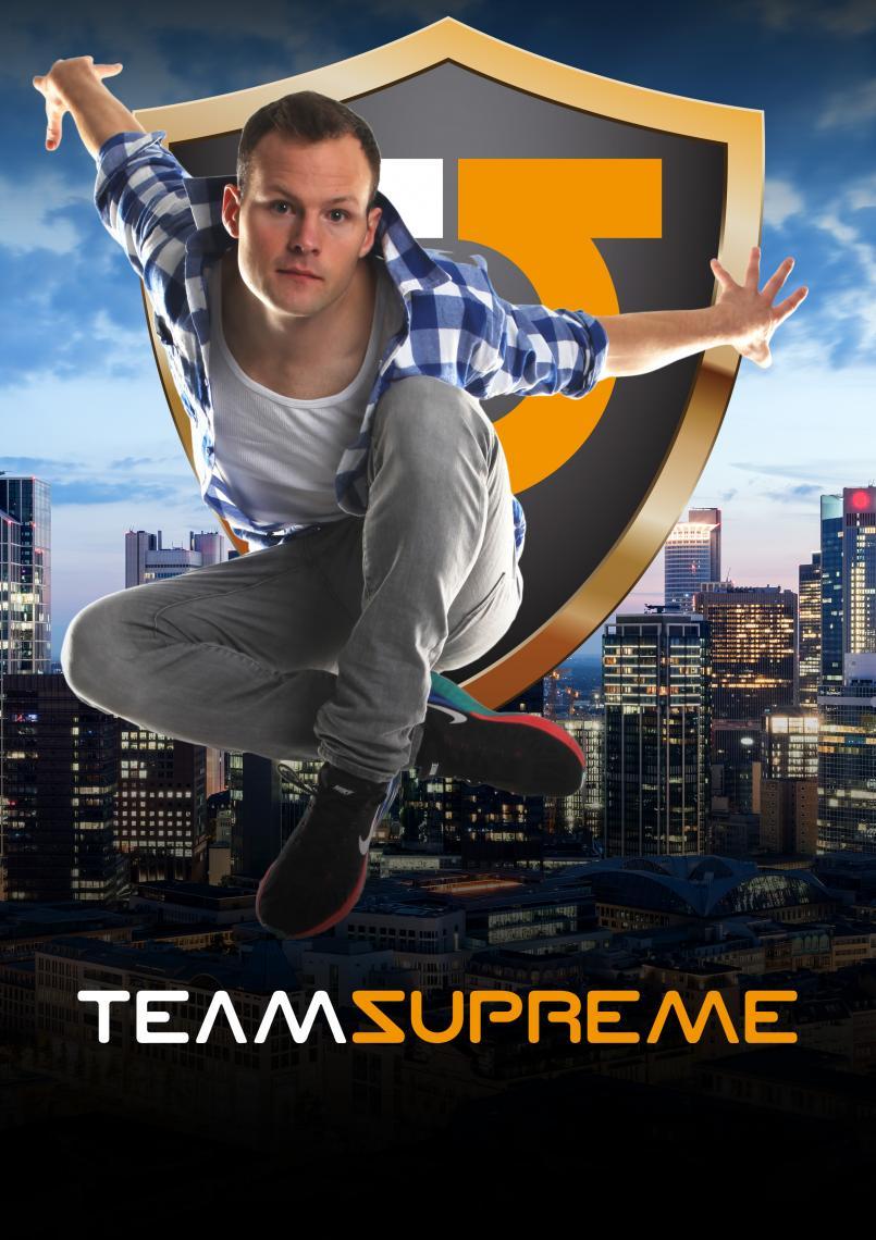 Team Supreme's  -Trendstyle Show - Parkour & Breakdance- Team Supreme aus Berlin ist eine große Tanz- und Akrobatik Company mit Künstlern aus den unterschiedlichsten Bewegungsdisziplinen.  Breakdance, Parkour, Streetdance, Stunt, Ballett, Rhythmische Sportgymnastik, BMX, Contemporary Dance, Slackline, Afrodance, Trampolin, Partnerakrobatik. Die Vielseitigkeit dieser Crew zeigt sich in der Mischung aus bereits fertigen Showelementen und der großen Flexibilität maßgeschneiderte Showkonzepte für unsere Kunden zu entwickeln.