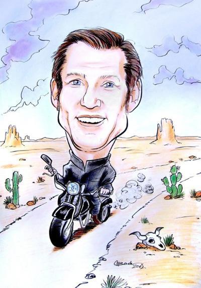 """Karikaturist aus Leidenschaft Kundenstimme: """"Herr Bender zeichnete auf unserem Kundenevent über 50 tolle Karikaturen in unglaublichem Tempo!"""""""