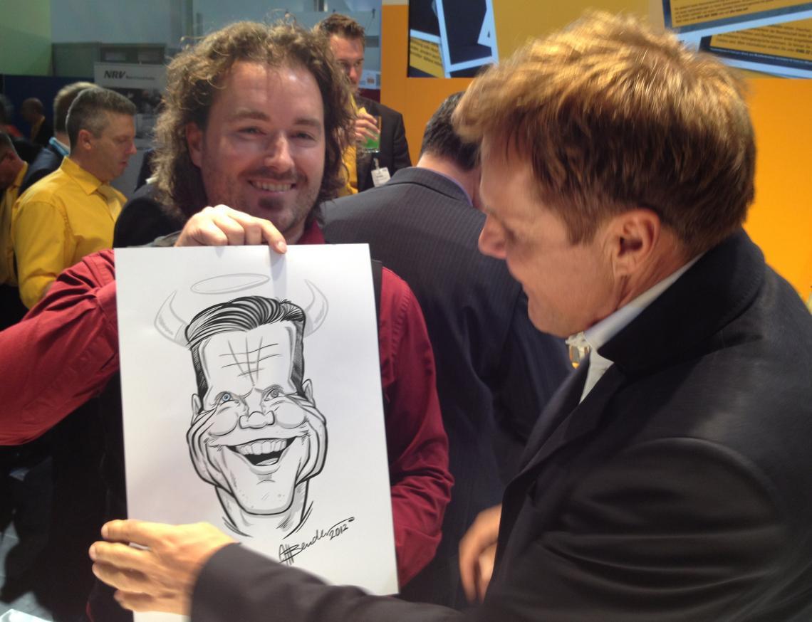 Karikatur von Dieter Bohlen. Gezeichnet in 4 Minuten