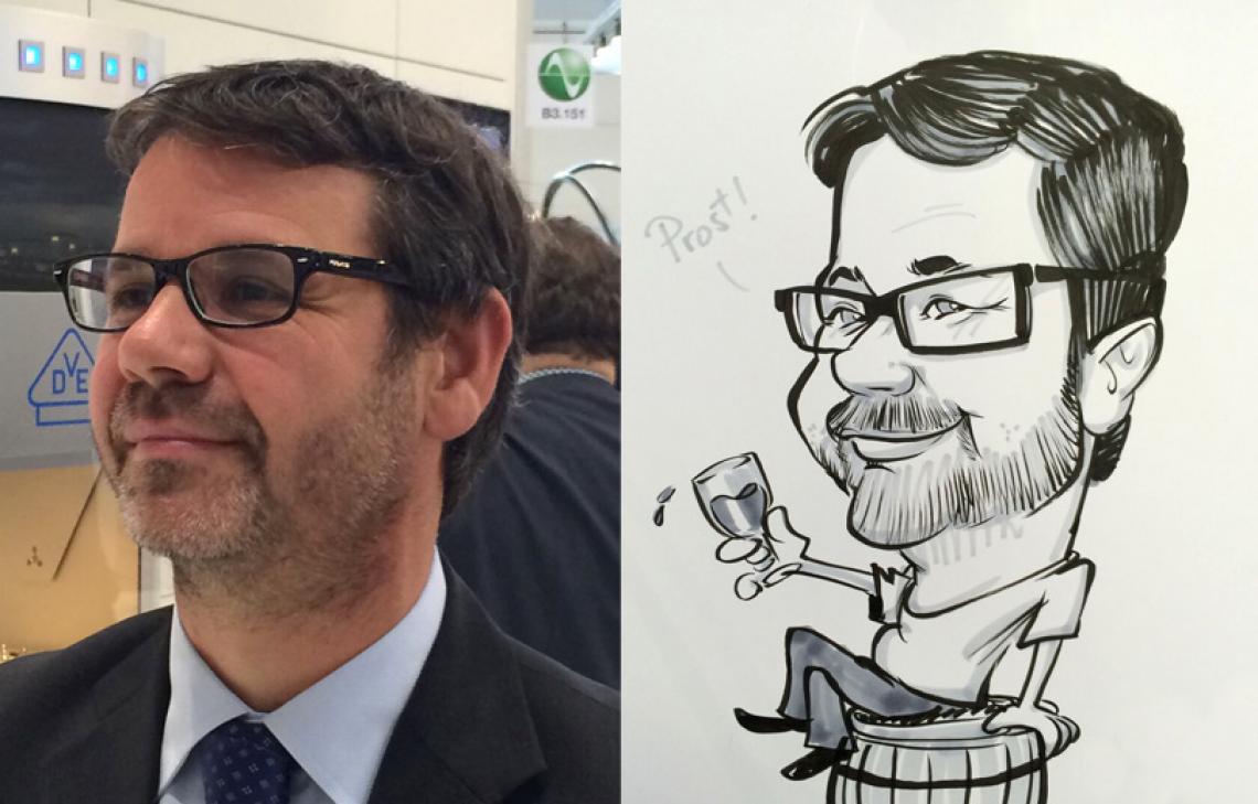 Live-Karikatur in 4 Minuten