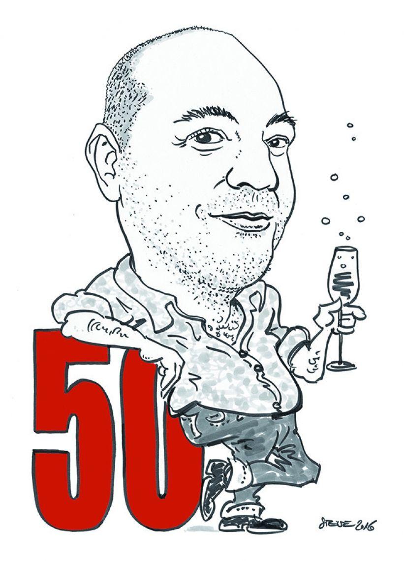 Karikatur 50er Geburtstag