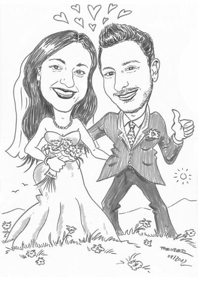 Schnellzeichnen Hochzeit
