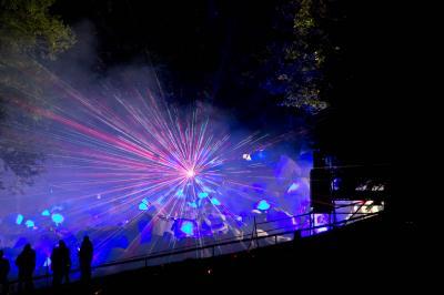 Felsenmeer in Flammen Lasereffekte