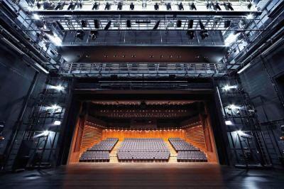 Blick von der Bühne in den Zuschauersaal