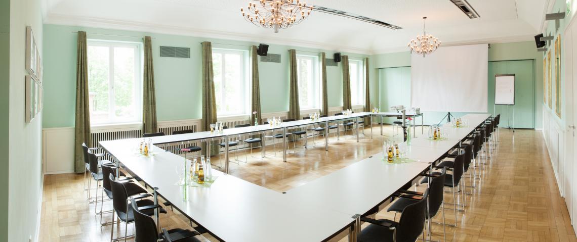 Kleiner Tagungssaal im gegenüberliegenden Zentrum für Wissen, Bildung und Kultur (WBK)