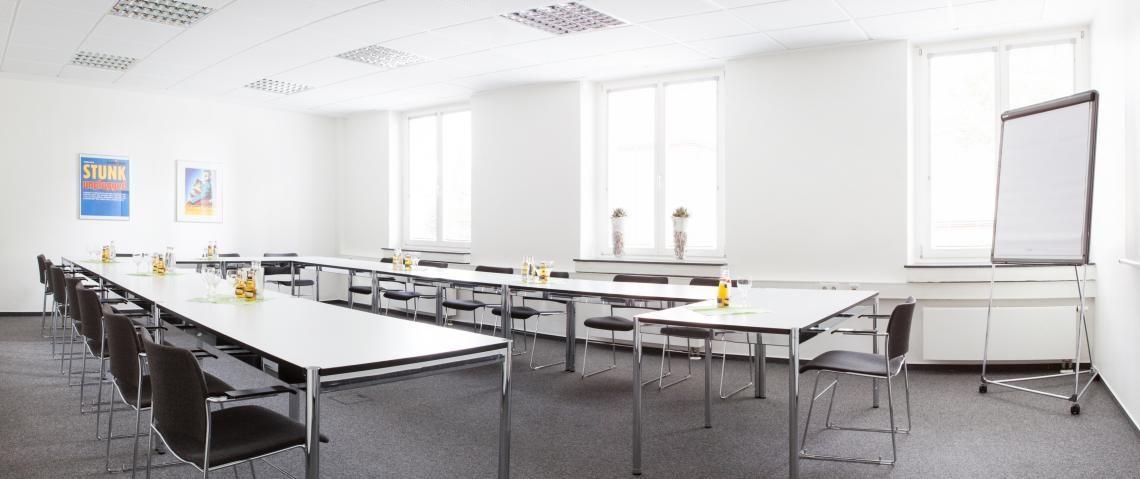 Seminarraum A im gegenüberliegenden Zentrum für Wissen, Bildung und Kultur (WBK)