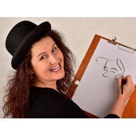 Karikaturistin/Schnellzeichnerin Marion Stein