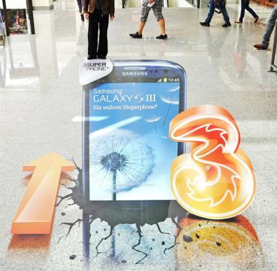 3D Bodenaufkleber Bodenaufkleber in 3D für den Innenbereich