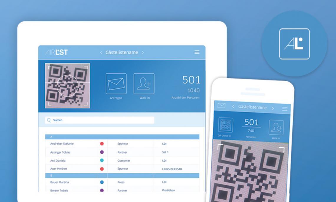 iOS und Android-App Die sichere und einfache AirLST-App für iOS und Android erlaubt schnelles Einchecken am Tag der Veranstaltung – ganz ohne Papier.