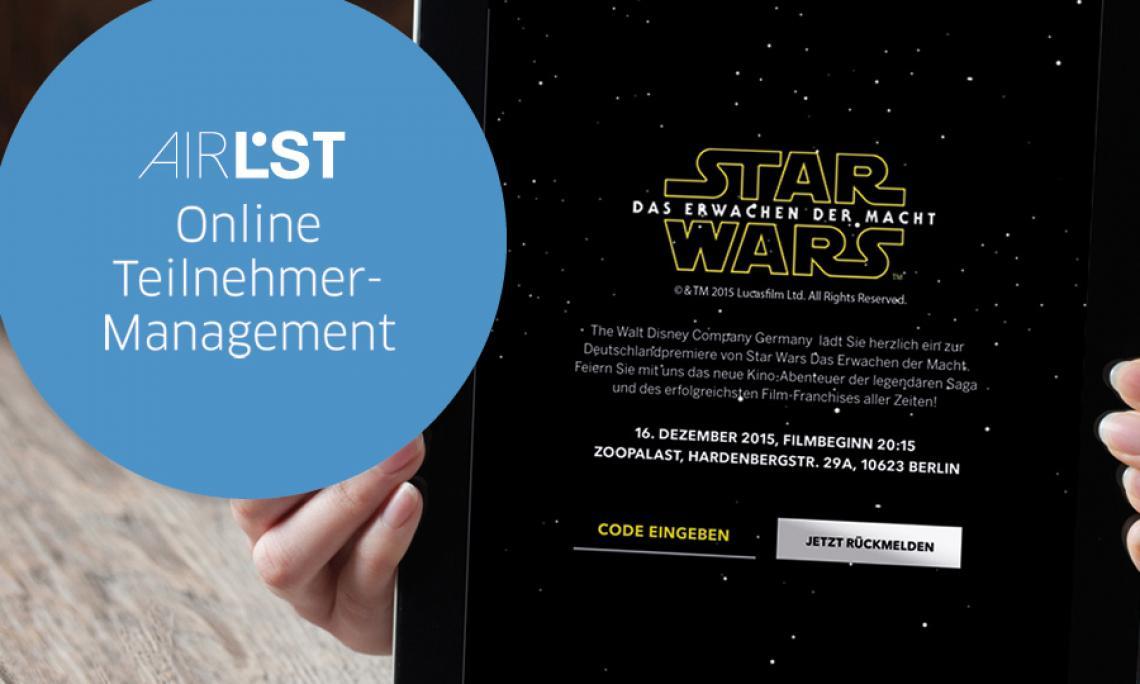 Online Teilnehmer-Management EINFACH. EFFIZIENT. SICHER. AirLST. Der prozessübergreifende Eventplaner.