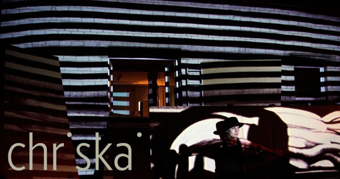 Improvisations- Theater mit Sand-Projektion, Illusion Schweiz.
