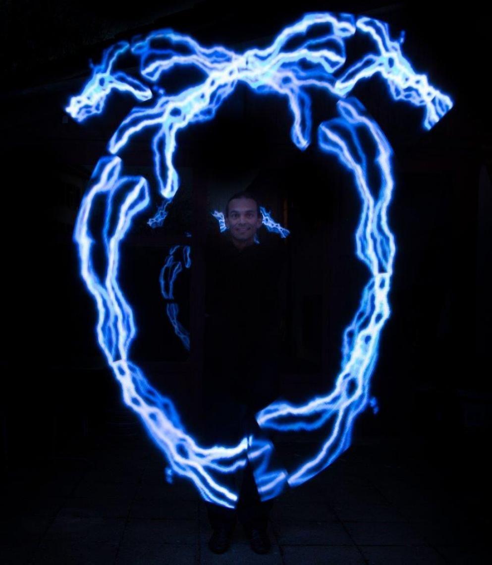 licht mit logo darstellung alles ist möglich, auch dass es leuchtet!