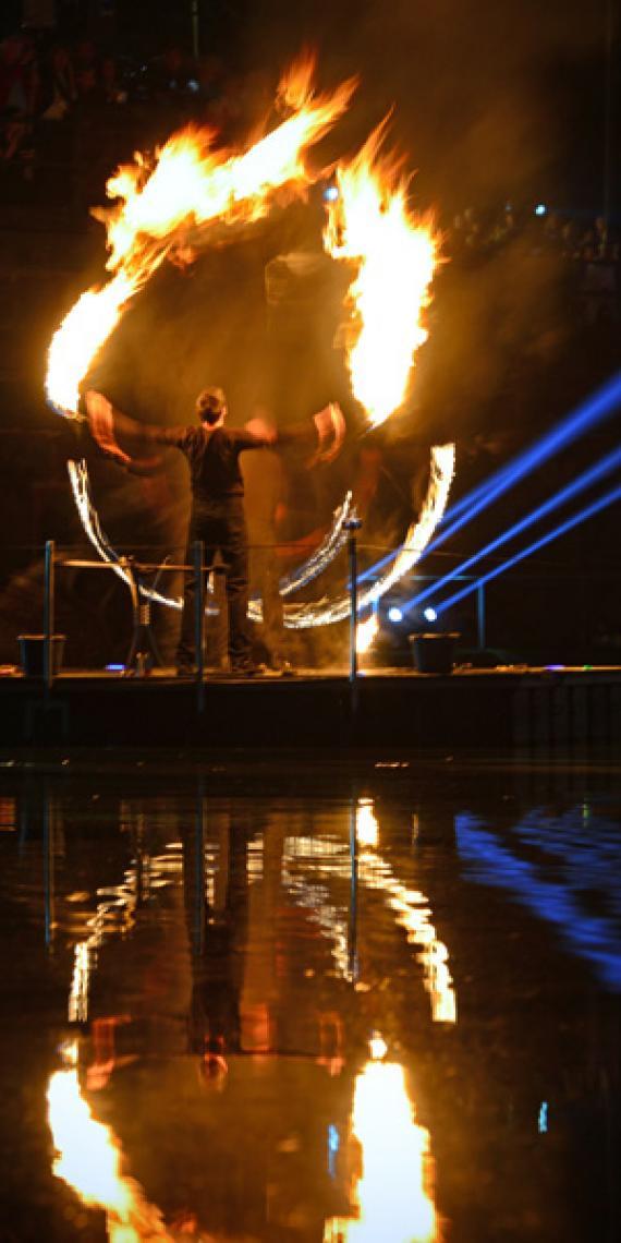 Drauf & Dran: Feuershow | Foto von ©Andreas Hamacher