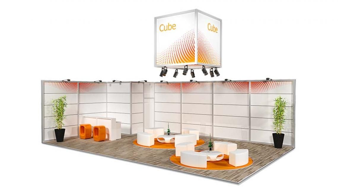 Messestand Cube