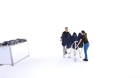 Video: Pro-Tent MODUL 4000 Aufbau 3x3m Zelt
