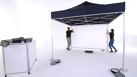 Pro-Tent MODUL 4000 Montage Seitenwand