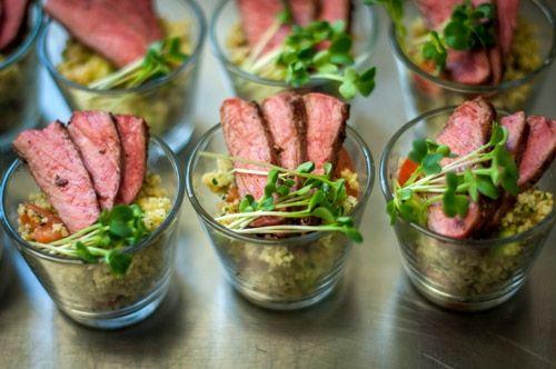 Getrüffelter Linsensalat ° geräucherte Entenbrust Wir bereiten Ihnen dies gerne zum Fingerfood oder auch bei einem Gabelbüffet zu