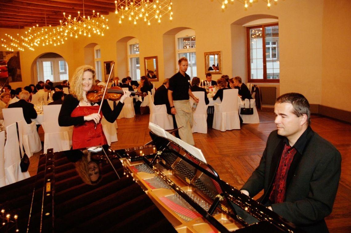 Konzertant  Auf Schloss Stettenfels für die Sparkasse Heilbronn