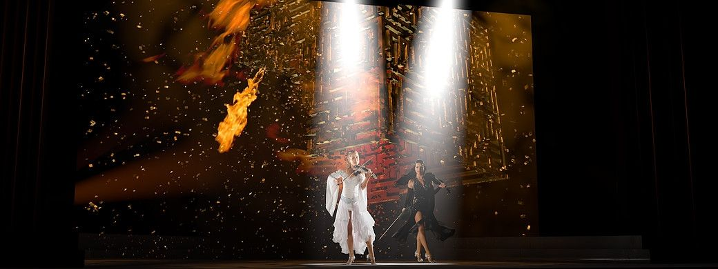 Angelstrings on fire