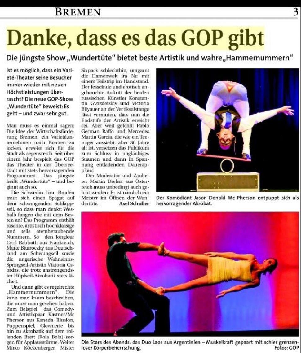GOP Variete Zeitung