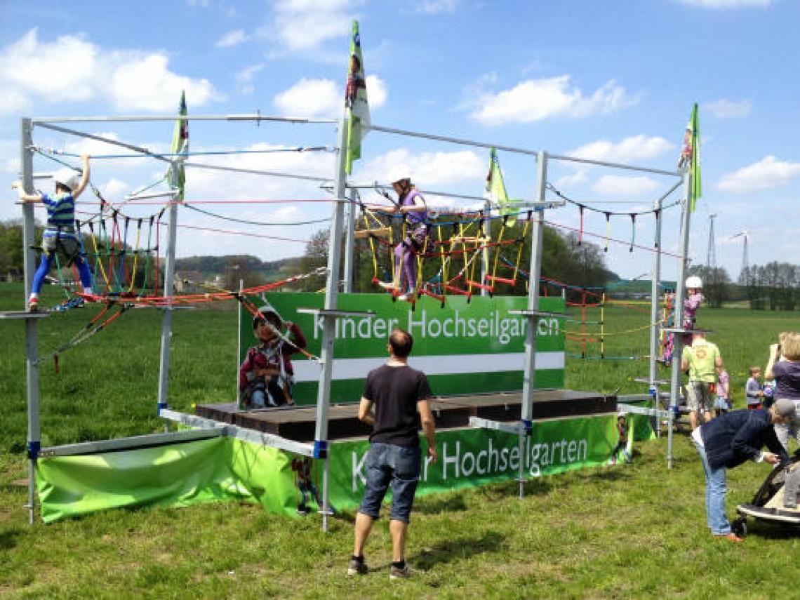Hochseilgarten für Kinder Mobile Outdooraction für jedes Event