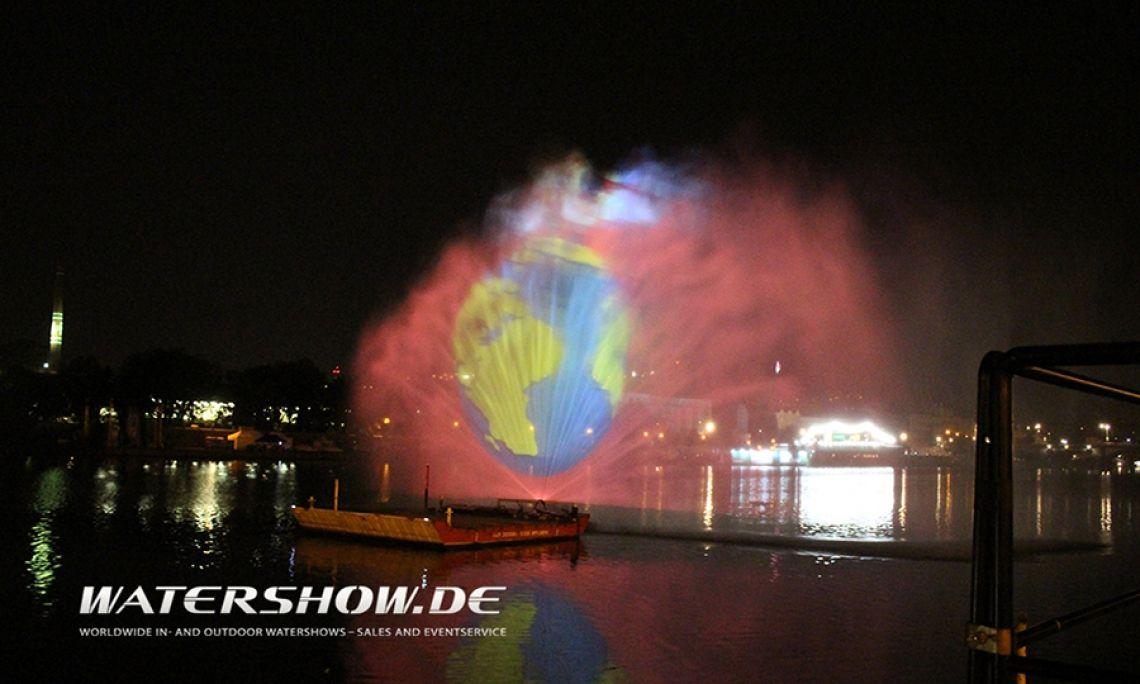 1C Wasserschild 1C Hydroschild auf der Moldau - Prag 2017