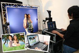 alinea-BlueBox - BlueBox Fotoaktion - alinea-FotoMosaik - Foto-Simulator - Eventfototool - Rahmenprogramm - Verkaufsförderung  - Promotion - besondere Dienstleistung - Eventhighlight