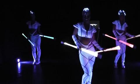 Einzigartige Led Show Lichtshow Mit Lichttanz Und Lichtjonglage