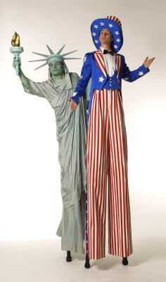 "Miss Liberty und Uncle Sam Figurentheater aus dem wilden Westen in ""good old europe""