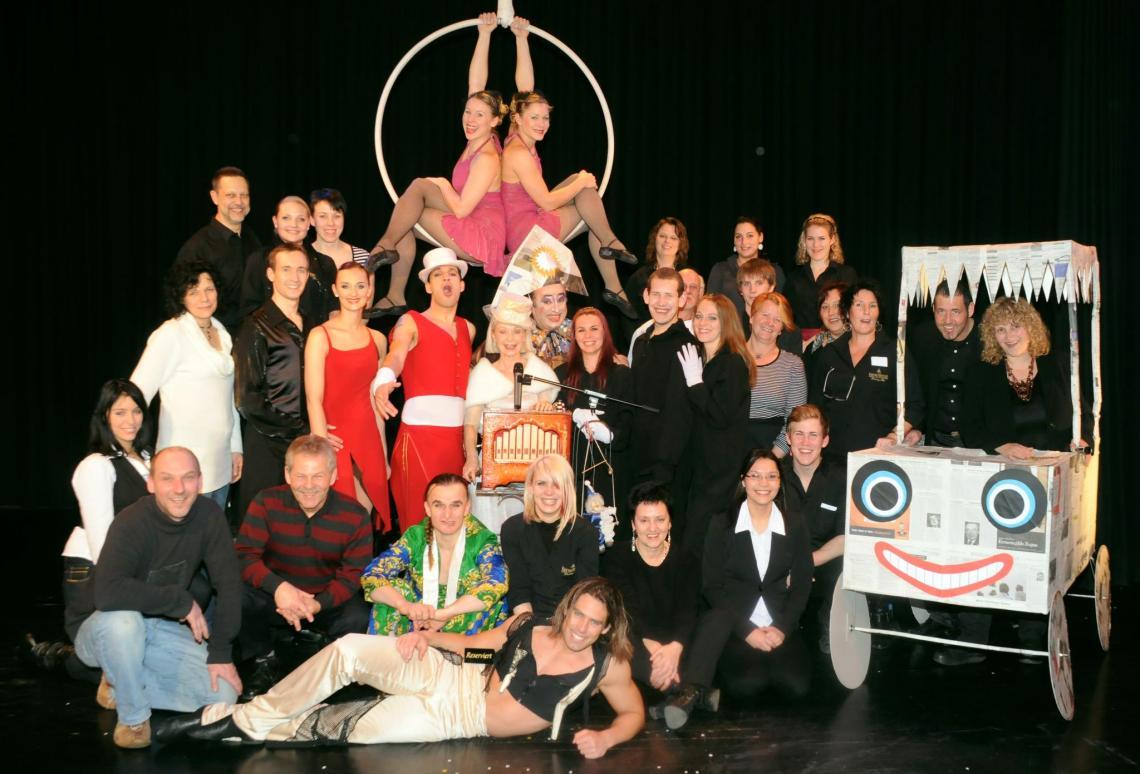 kunerbunt ist unser Showteam - jedesmal anders, immer wieder spannend! Erinnerungen an eine Wintershow in unserem Haus