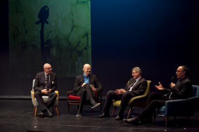 Moderator Talkrunde Armin Nagel als Moderator in einer Talkrunde