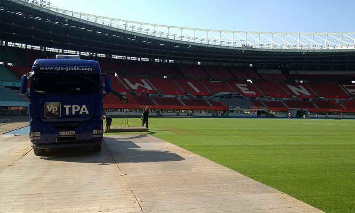 TPA Aluminium Panels im Einsatz für ein Stadion-Konzert