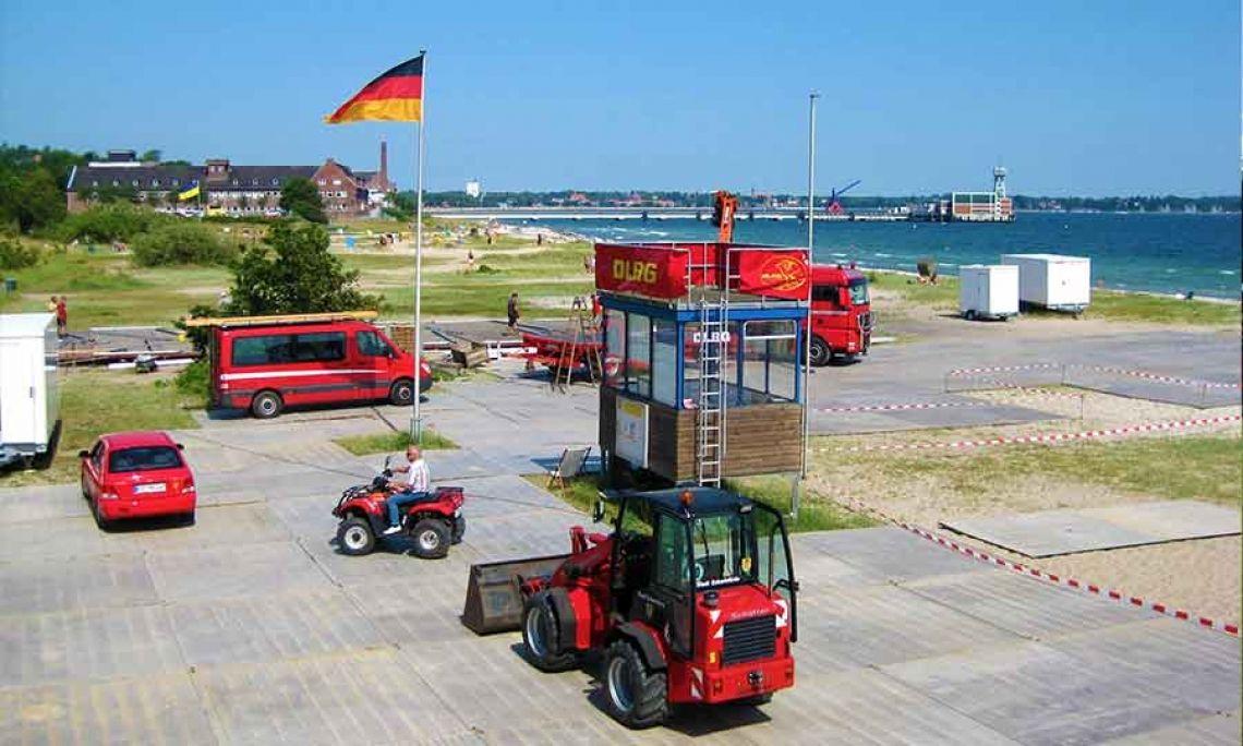 TPA Mobile Straßen: sicherer Stand, auch auf dem Strand