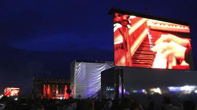 Großbild-Leinwände Bereitstellung von Großbild-Leinwänden inklusive Produktion der Livebilder
