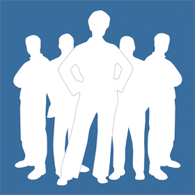 PB-Logo, Gruppe, negativ